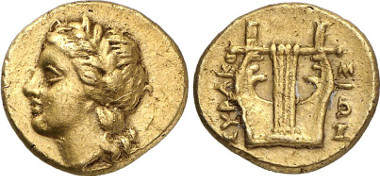 Syracuse, Agathokles, 317-289. 25 litrai, ca. 310-305. From Gorny & Mosch auction sale 203 (2012), 73.