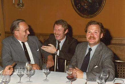 Coin dealers in the 1970ies: Sigi Schierhorn, Dieter Gorny, Anders Ringberg.