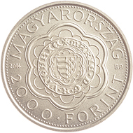 Hungary/ 2,000 HUF/ 2.7 g/ 20mm/ Mintage: 5,000.