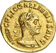 492: Gallienus, 253-268. Aureus, 253-254. RIC 79. MIR 46p. Ex Huntington Collection (HSA 30107). Rare. Extremely fine / about extremely fine. Estimate: 10,000 euros.