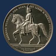 Königreich Hannover. Medaille zur Enthüllung des Reiterstandbilds in Hannover, 1861. © Landesmuseum Hannover.