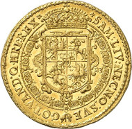Lot 3145: POLAND. Sigismund III (1587-1632). 5 ducats 1623, Bromberg. Fb. 78. Only three specimens known to exist. Extremely fine to proof-like. Estimate: 125,000,- euros. Hammer price: 170,000,- euros.