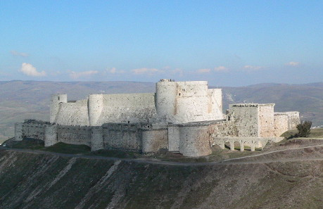 The Krak des Chevaliers in 2005 before its being heavily damaged.