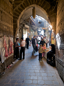 The Suq of Aleppo in 2010. Photograph: Dirk D. / http://creativecommons.org/licenses/by-sa/3.0