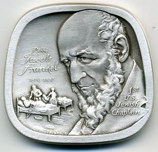 Rabbi Jacob Frankel (1808-1887), the First U.S. Jewish Chaplain./ courtesy of designer Eugene Daub.