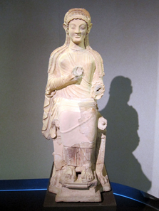 Terracotta statue from Madonna del Piano, around 600. Photo: KW.