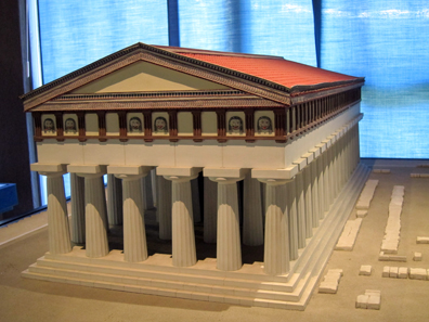 Model of the Temple of Apollo. Photo: KW.