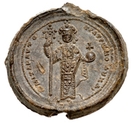 Lead Seal of Michael VII Ducas, issued between 1071-1078. Courtesy of Classical Numismatic Group, Inc.