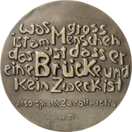 Medaille auf Erich Heckel, 2004. © Hubertus von Pilgrim. Fotos: Nicolai Kästner.
