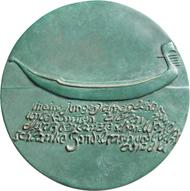 Medaille auf Hermann Hesse, 2003. © Hubertus von Pilgrim. Fotos: Nicolai Kästner.