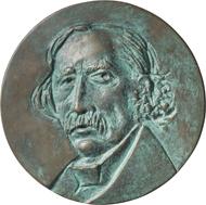 Medaille auf Theodor Fontane, 2004. © Hubertus von Pilgrim. Fotos: Nicolai Kästner.