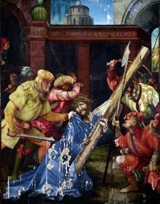 Matthias Grünewald, Die Kreuztragung Christi, 1523-25, 196 x 152 cm, Gesamtaufnahme des Zustands 2013; Staatliche Kunsthalle Karlsruhe. © Fokus GmbH Leipzig, 2013.
