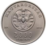 Hungary/ 2,000 HUF/ Cu75Ni25/ 12.5 g/ 30 mm/ Mintage: 5,000.