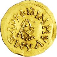 3317: Völkerwanderung. Visigoten. Wamba. 672-680 n. Chr. Gold-Tremissis. Taxe: 1.250.- EUR.