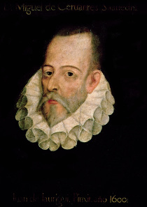 Portrait of Miguel de Cervantes y Saavedra (1547-1615). Source: Wikicommons.
