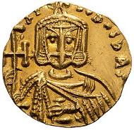 30: Nicephorus I; Syracuse, c. 802-811 AD, Solidus, 3.78g. Ricotti-Prina-22. Mint State. Estimate: $9,800.