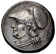 42: Syracuse, Fifth democracy; 214-212 BC, 8 Litrae, 10.22g. Enna Hoard-p. 21, D24 (93), Pozzi-664, SNG ANS-1040. EF. Estimate: $8,000.