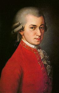 Posthumous portrait of Wolfgang Amadeus Mozart by Barbara Krafft, 1819. Source: Wikicommons.