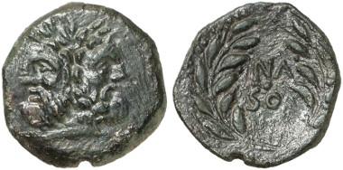 Panormos. Aes, um 210-201, Magistrat Naso. Aus Auktion Künker 248 (2014), 7085.
