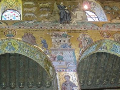 Ein Ausschnitt aus den Mosaiken, die dem alten Testament gewidmet sind. Foto. KW.