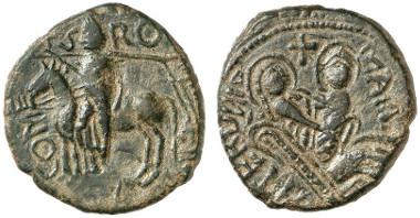Roger I., 1072-1101. Trifollaro, Mileto. Aus Auktion Gorny & Mosch 221 (2014), 3083.