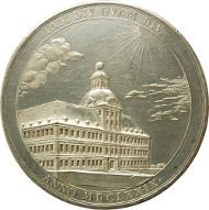 Medaille von Ernst Caspar Dürr und Martin Heinrich, geprägt 1679 auf die Vollendung des Schlosses Weißenfels, Staatliche Kunstsammlungen Dresden, Foto: Roger Paul.
