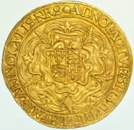 ELIZABETH I SOVEREIGN, SIXTH ISSUE, mm. ESCALLOP, 1584-6.