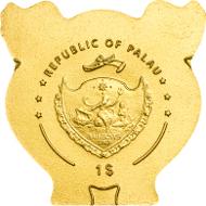 Palau/ 1 Dollar/ Gold .9999/ 0.5 g/ 11 mm/ Mintage: 15,000.