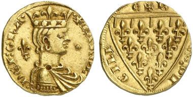 Karl von Anjou. Reale d'oro o. J., Messina. Aus Auktion Künker 239 (2013), 5302.