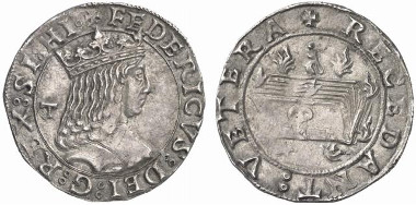 Frederick III of Aragon, 1496-1501. Carlino, Naples. From Künker auction sale 127 (2007), 4985.