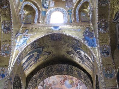Christi Empfängnis. Mosaik in der Martorana. Foto: KW.