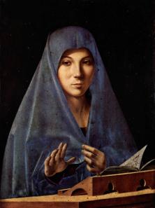 Maria der Verkündigung. Gemälde des Antonello da Messina. Quelle: Wikipedia.