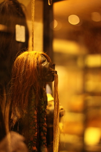 Shrunken head from the Pitt Rivers Museum, Oxford. Photo: Narayan k28 / Wikipedia.