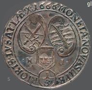 Dritteltaler, Kursachsen, Johann Georg II., 1666, Münzstätte Bautzen.