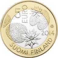 Finland/ 5 Euro/ 9.8 g/ 27.25 mm/ Design: Reijo Paavilainen/ Mintage: 7,000.
