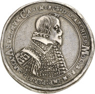 Mainz. Anselm Casimir Wamboldt von Umstadt, 1629-1647. Dicker, dreifacher Reichstaler 1639, Mainz. Aus der Sammlung Horn, Meißen. Von großer Seltenheit. Sehr schön. Taxe: 20.000 Euro.