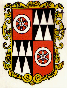 Bishop's coat of arms. Source: Wikipedia.