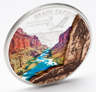 Grand Canyon with a prominent marble inlay.