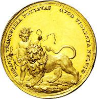 233: Bistum Passau. Johann Philipp Graf von Lamberg. 1689-1712. Goldene Gnadenmedaille 1691 zu 15 Dukaten. Taxe: EUR 15.000.