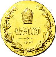 285: Iran. Ahmad Sah. 1909-1925. Goldmedaille 1919. Taxe: EUR 2.000.