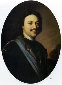 Carel de Moor, Portrait of Peter the Great, 1717.