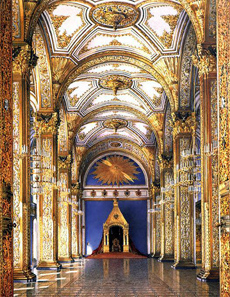 Hall of the Order of St. Andrews in the Moscow Kremlin. Painting by Konstantin Andreyevich Ukhtomsky (1818-1881).
