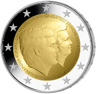 2-Euro-Gedenkmünze der Niederlande.