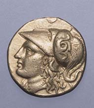 Goldstater, Macedonia, Alexander the Great. 336-323 BC. ©State Hermitage Museum, St Petersburg.