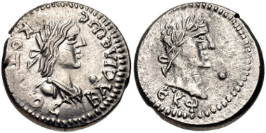 58: KINGS of BOSPOROS. Kotys III, with Severus Alexander. Stater (18mm, 7.43 g, 12h). Dated year 525 of the Bosporan Era (AD 228/9). MacDonald 574/1. VF, a few minor scratches. Estimate: $200,00.