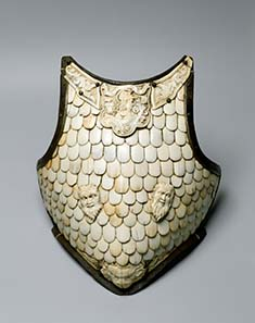 Cuirass breastplate Italy. Late 16th century. Steel, bone, wrought and carved, h 42 cm, ©State Hermitage Museum, St Petersburg.