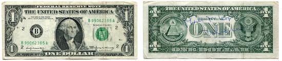 5430: 1 Dollar. Series of 1969. Mit handgeschriebener Notiz und Unterschrift von John Lennon. Pick 449c. III. Schätzpreis: 3.500 CHF.