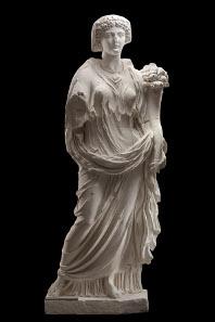 Statue der Livia (58 v. Chr.-29 n. Chr.) als Ceres/Fortuna aus Pozzuoli (Golf von Neapel, Italien); Marmor; H 215 cm; claudisch, nach 42 n. Chr.; Kopenhagen, Ny Carlsberg Glyptotek (Original); Abguss SH 1758. © Foto: Skulpturhalle Basel.