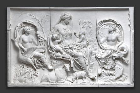Reliefplatte von der Ara Pacis (
