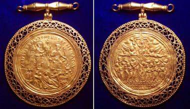 1144: Goldmedallion oder Enkolpion (enkólpion,